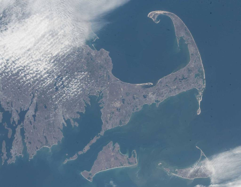 Cape Cod, MA, as seen from the International Space Station, April 2018